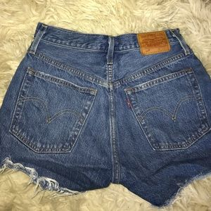 Urban outfitters dark wash high wasted shorts